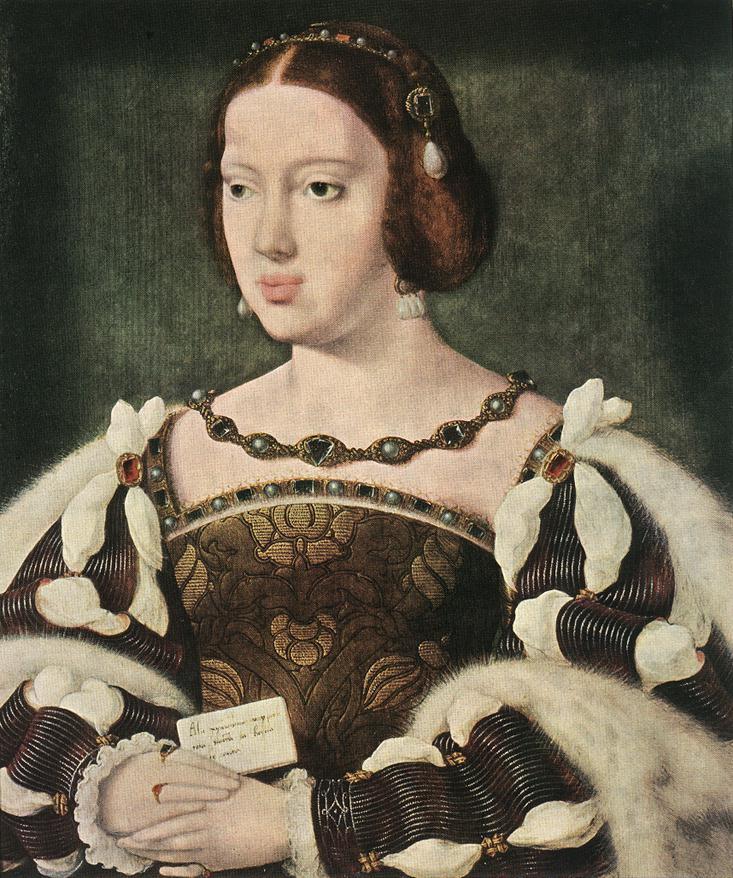 Portrait of Eleonora, Queen of France :: Joos van Cleve  - 2 women portraits 16th century hall ôîòî