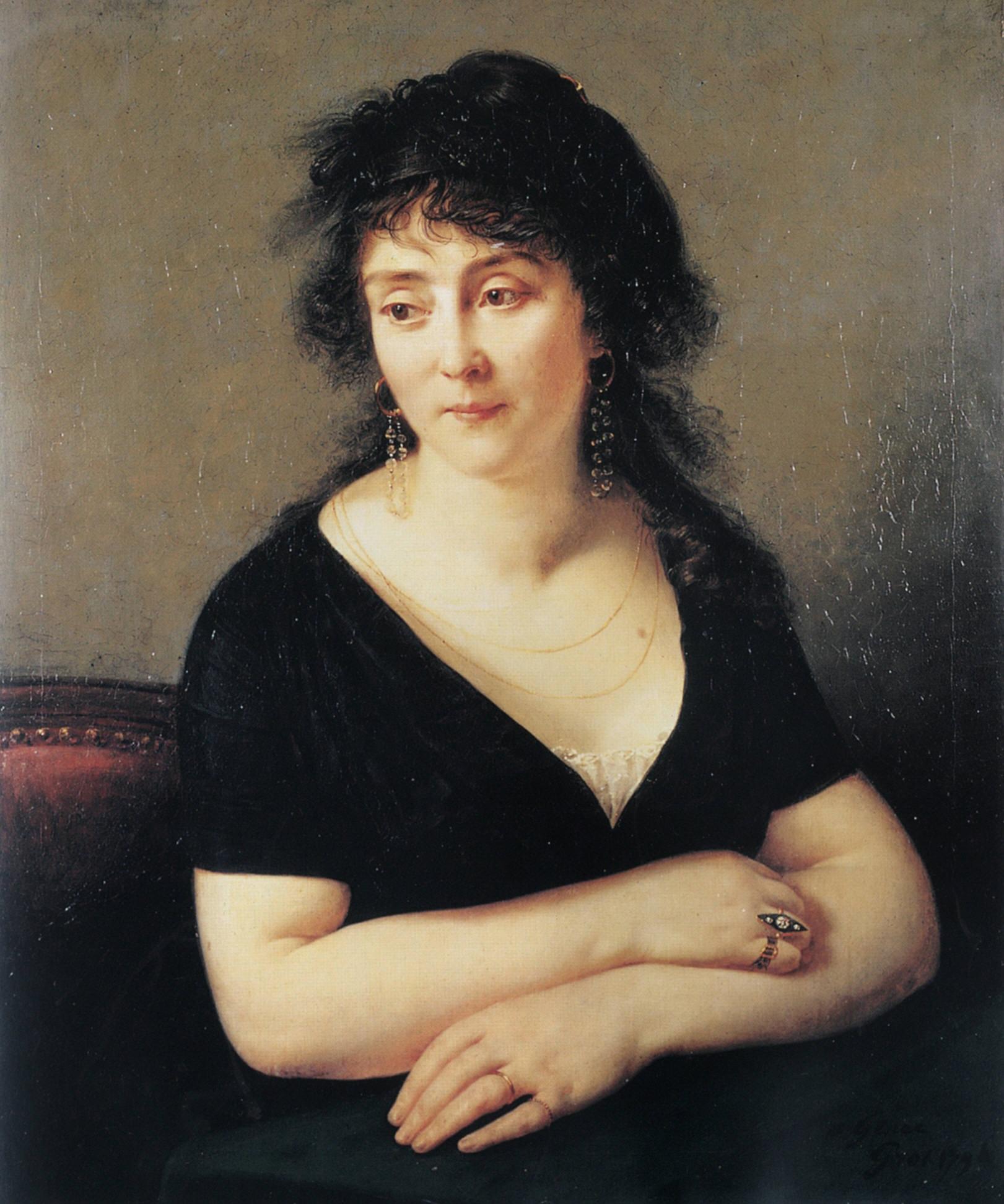 Portrait of Madame Bruyere :: Antoine-Jean Gros - 4 women's portraits 18th century hall ôîòî