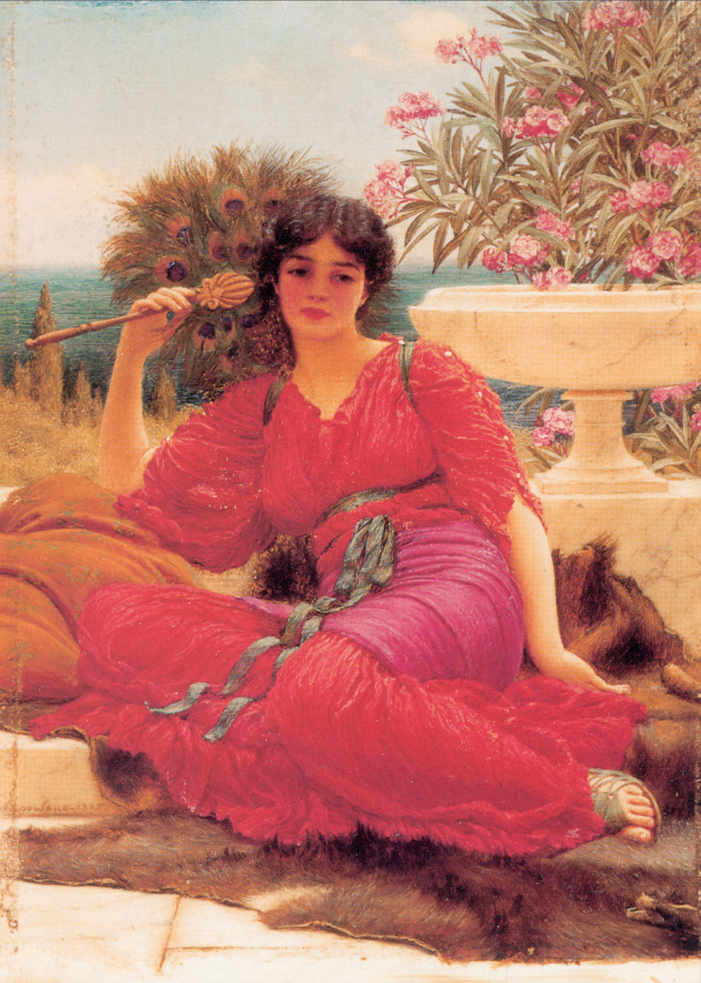 Flabellifera [oil study] :: John William Godward - Antique beauties in art and painting ôîòî