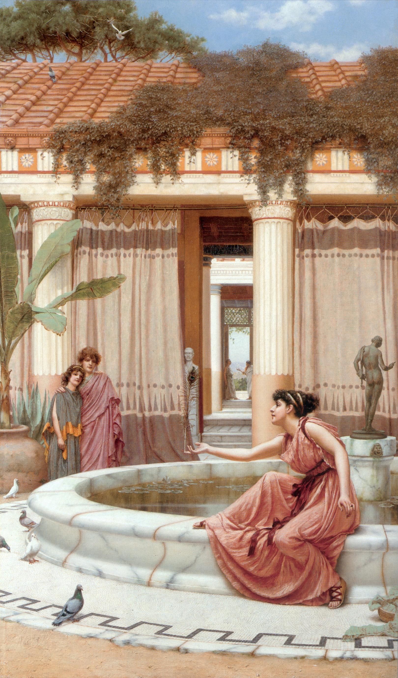 Innocent Amusements :: John William Godward - Antique world scenes ôîòî