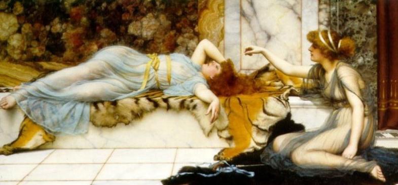 Mischief and Repose :: John William Godward - Antique world scenes ôîòî
