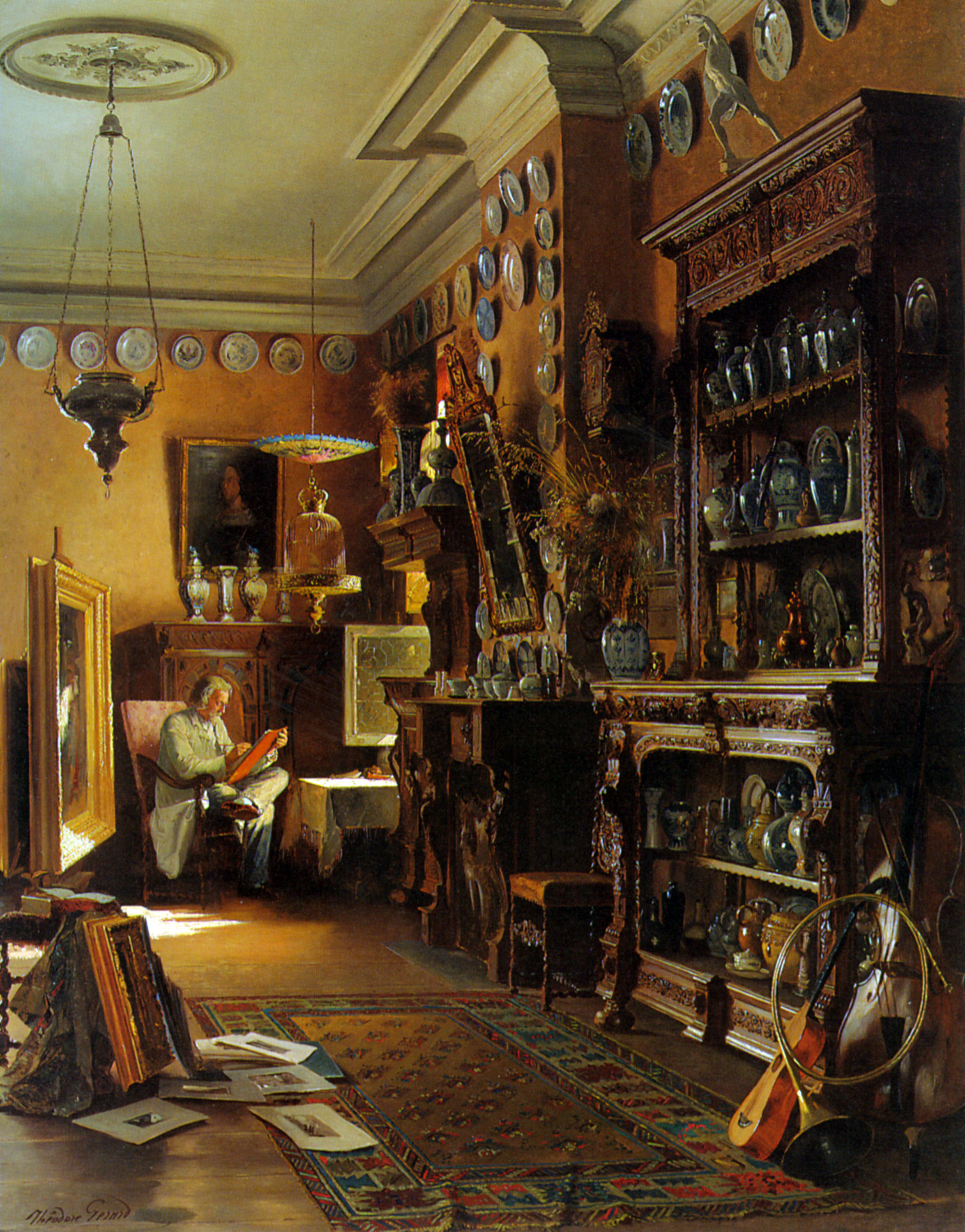 The Collectors Studio :: Theodore Gerard - Interiors in art and painting ôîòî