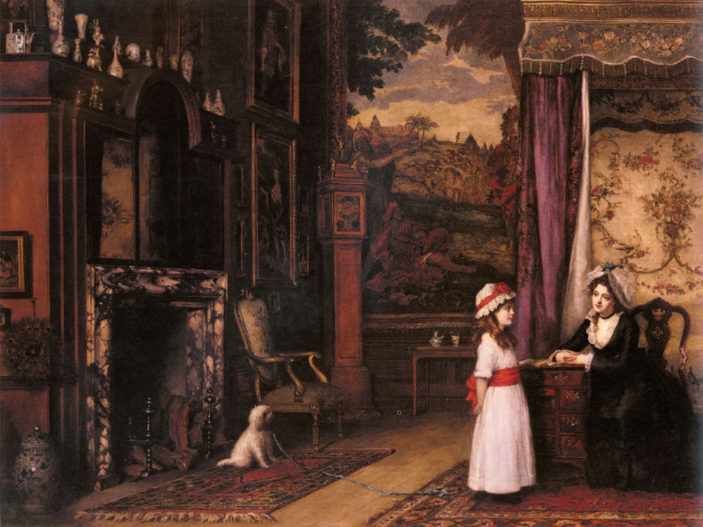 The Morning Lesson :: William Maw Egley - Interiors in art and painting ôîòî
