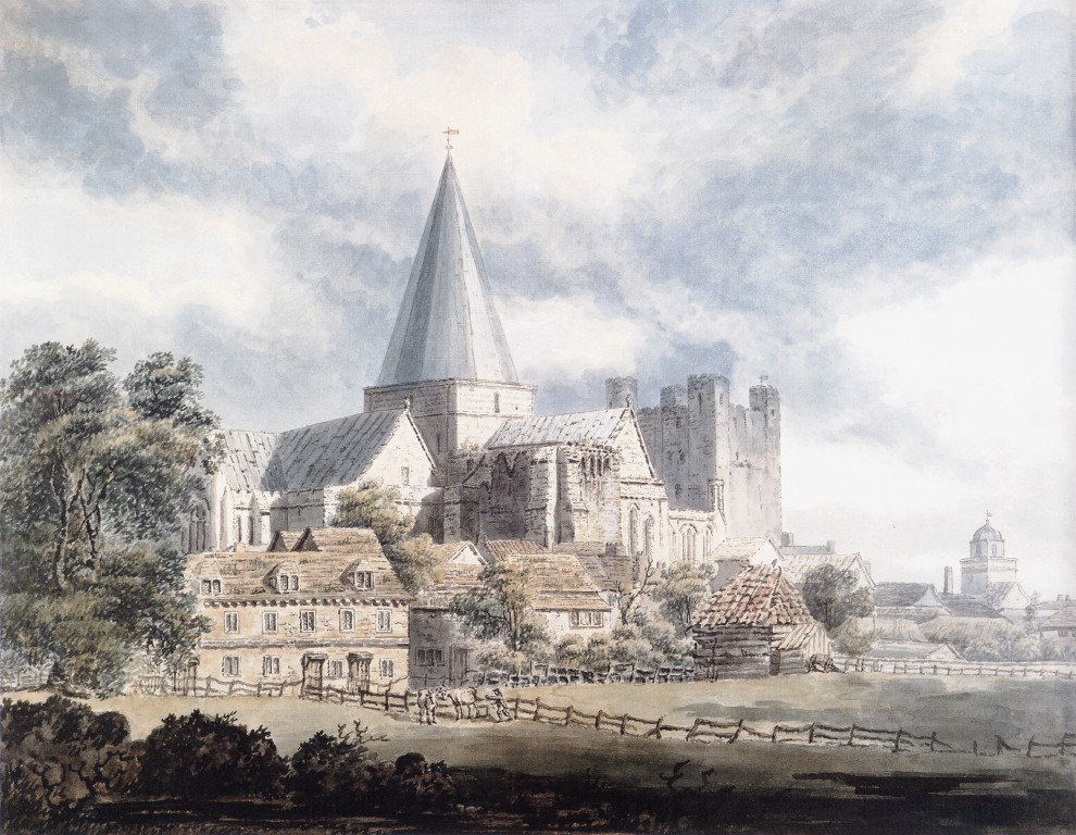Rochester Cathedral and Castle, from the North-East :: Thomas Girtin - Architecture ôîòî