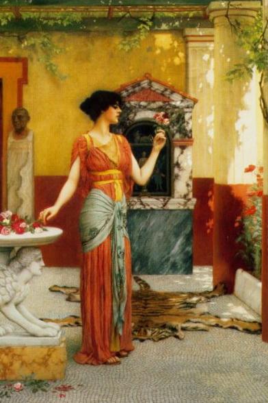 The Bouquet :: John William Godward  - Antique world scenes ôîòî