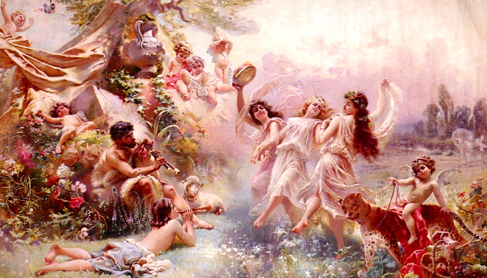 Bacchanale :: Paul Jean Gervais - Antique world scenes ôîòî