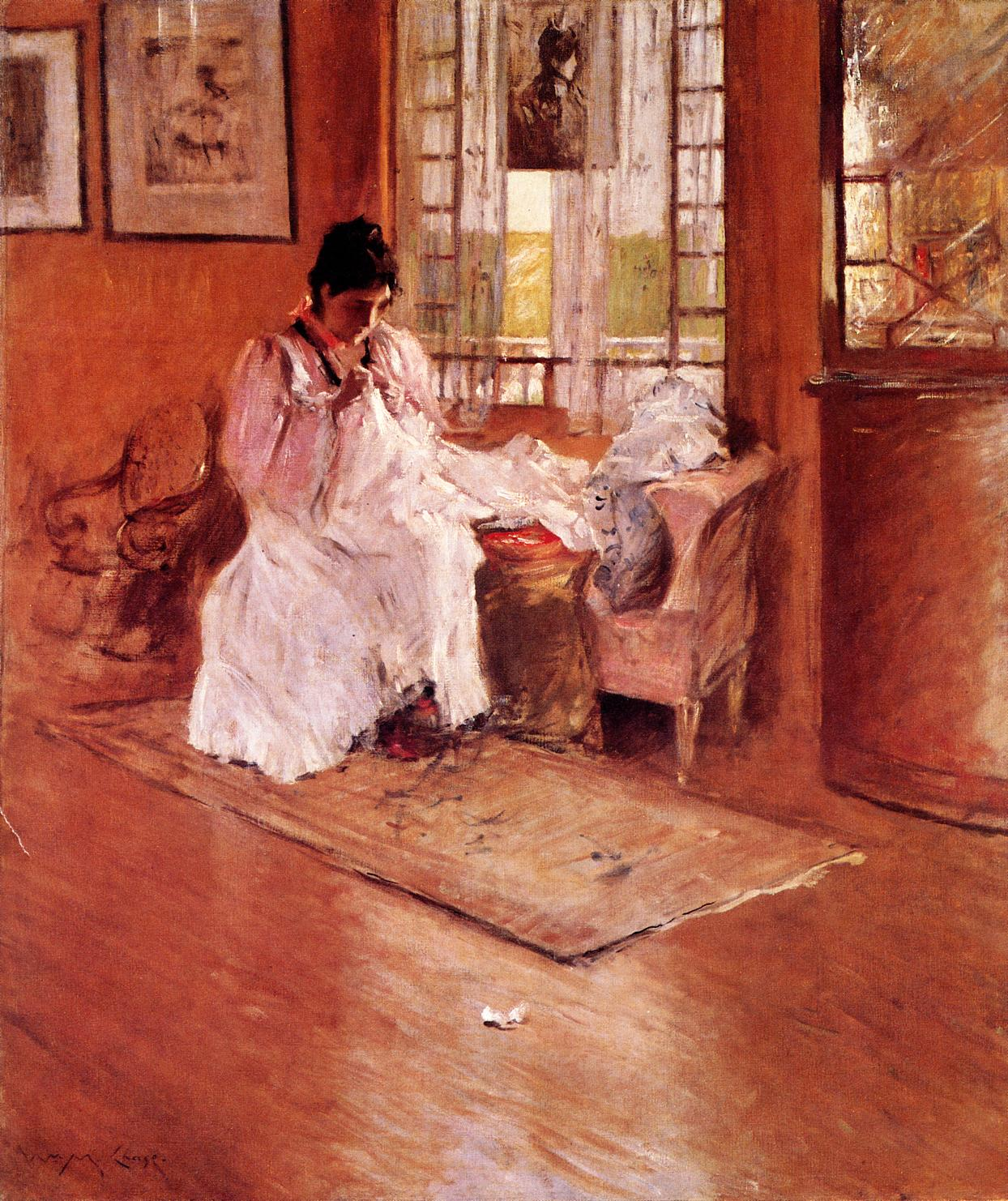For the Little One aka Hall at Shinnecock :: William Merritt Chase - Interiors in art and painting ôîòî