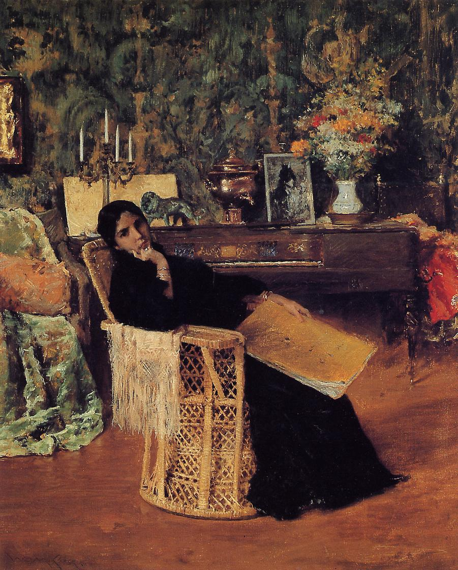 In the Studio :: William Merritt Chase - Interiors in art and painting ôîòî