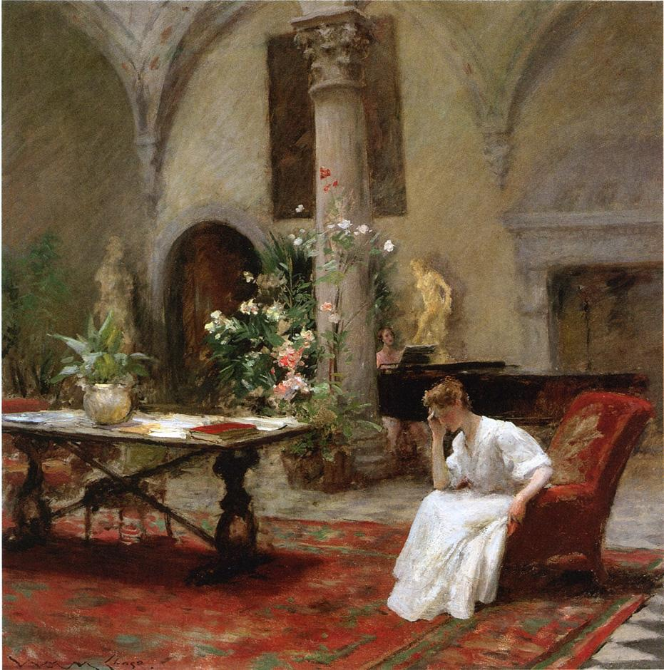 The Song :: William Merritt Chase - Interiors in art and painting ôîòî