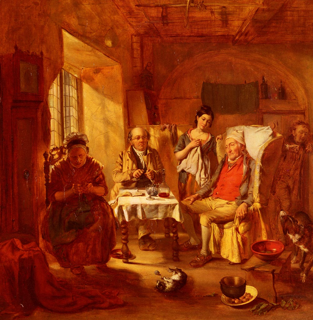 The Family Lawyer :: William Powell Frith - Interiors in art and painting ôîòî