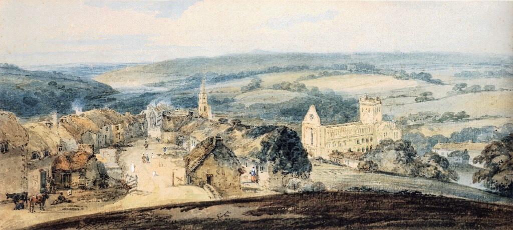 The Village of Jedburgh, Scotland :: Thomas Girtin - Architecture ôîòî