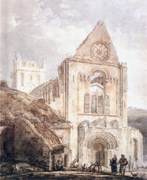 The West Front of Jedburgh Abbey, Scotland :: Thomas Girtin - Architecture ôîòî