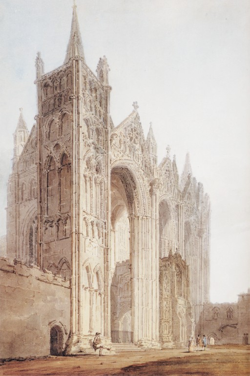 The West Front of Peterborough Cathedral :: Thomas Girtin - Architecture ôîòî