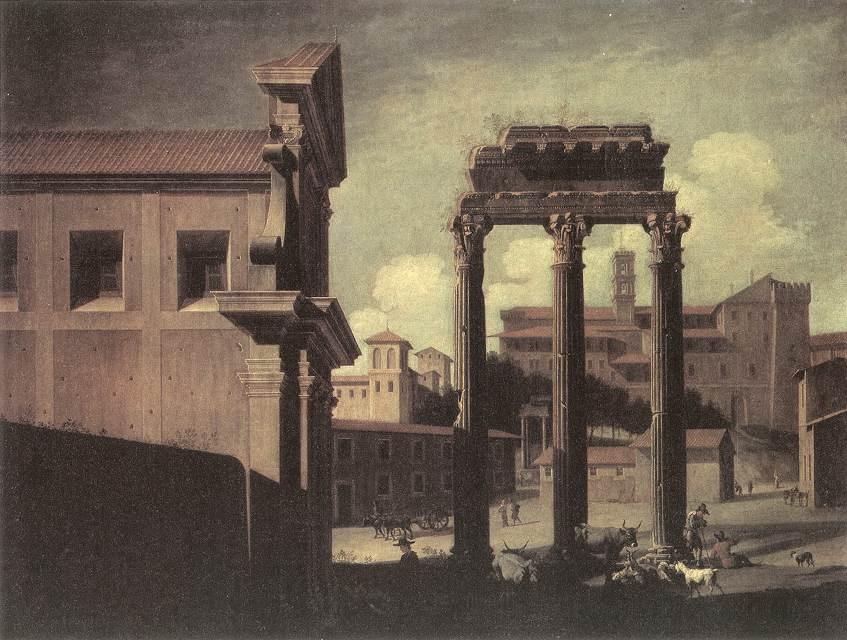 Rome, the Campo Vaccino Looking toward the Capitoline :: Viviano Codazzi - Architecture ôîòî