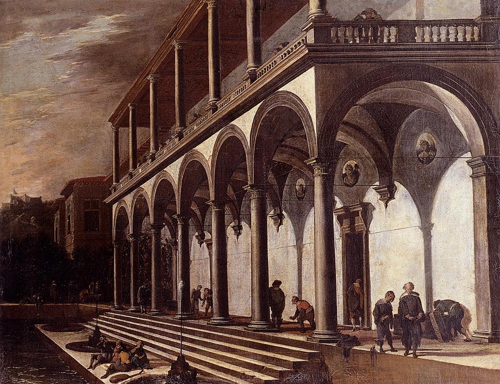 View Of The Villa Poggioreale, Naples :: Viviano Codazzi - Architecture ôîòî