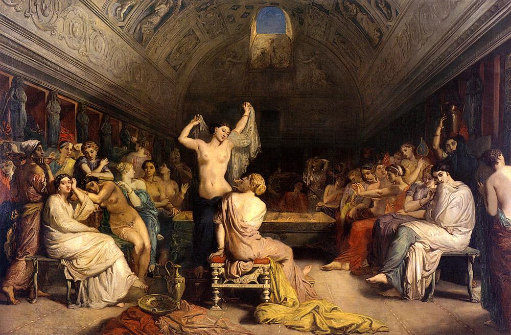 The Tepidarium :: Thiodore Chassiriau - Antique world scenes ôîòî