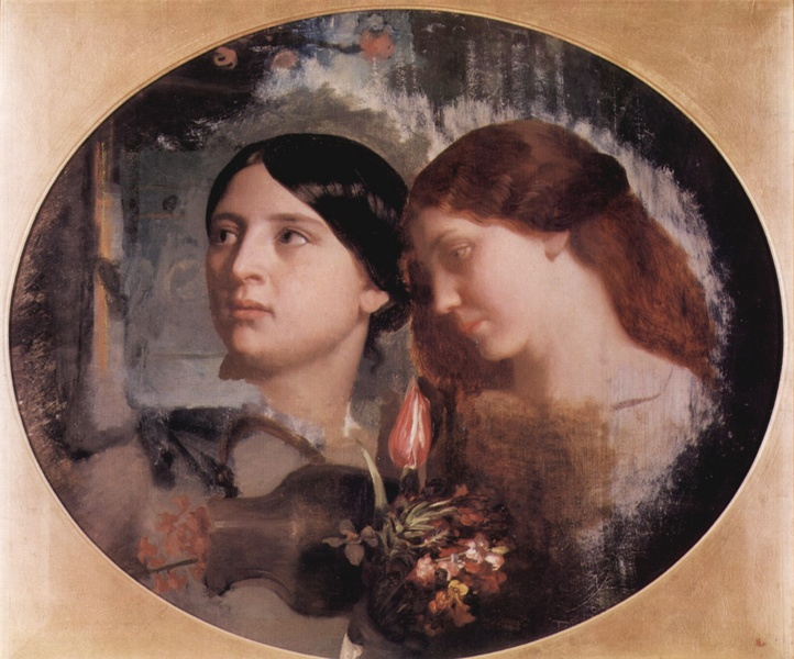 Two Women with a Bouquet of Flowers :: Charles Gleyre - 6 woman's portraits hall ( The middle of 19 centuries ) in art and painting ôîòî