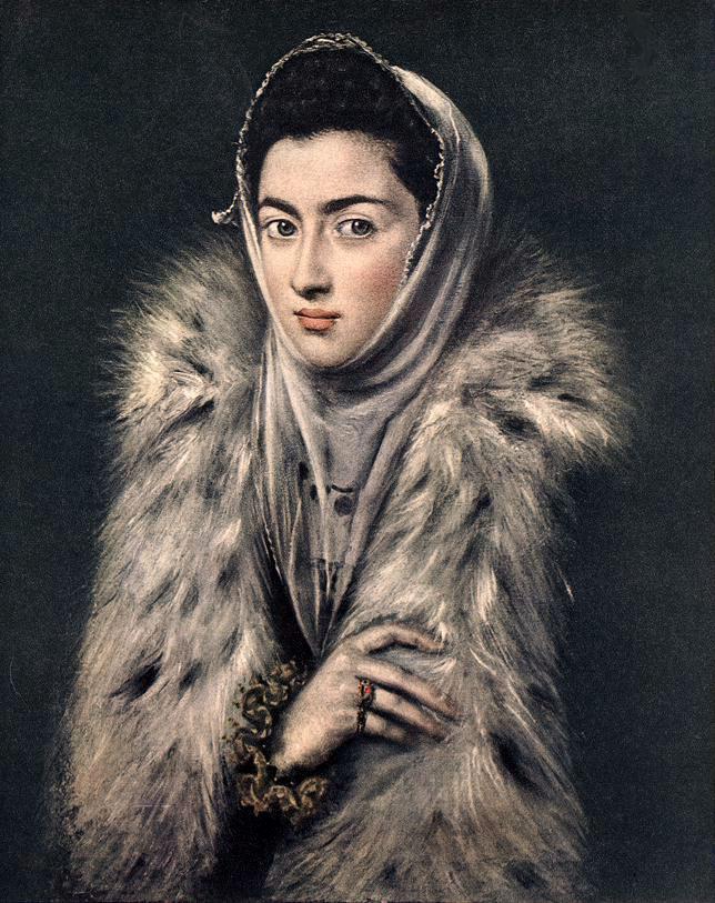 Lady with a Fur :: El Greco - 2 women portraits 16th century hall ôîòî