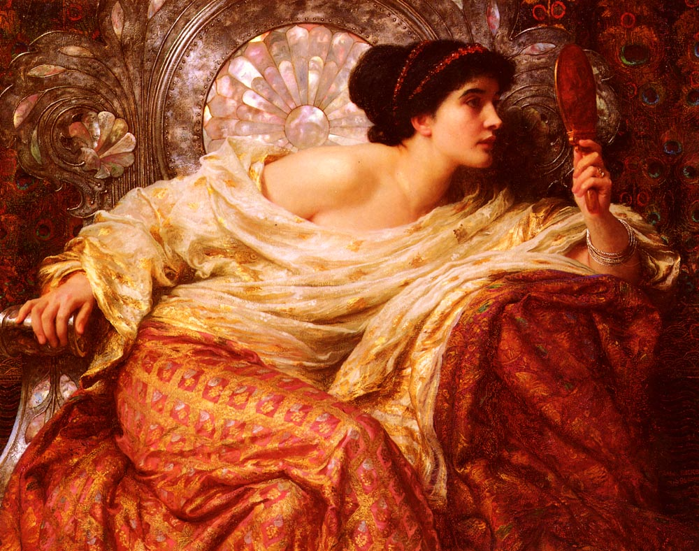 The Mirror :: Frank Dicksee  - 7 female portraits ( the end of 19 centuries ) in art and painting ôîòî