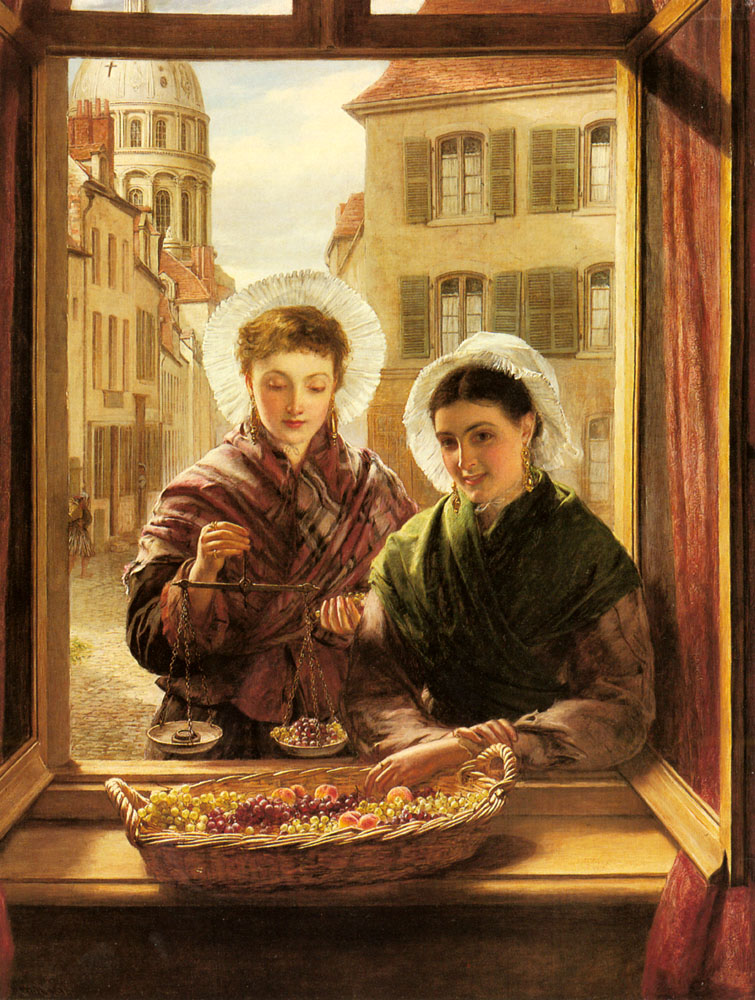 At my Window, Boulogne :: William Powell Frith - 6 woman's portraits hall ( The middle of 19 centuries ) in art and painting ôîòî