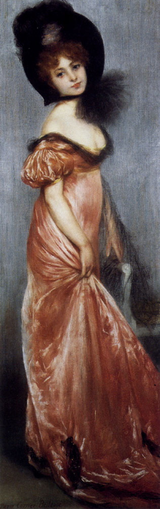 Young Girl In A Pink Dress :: Pierre Carrier-Belleuse  - 7 female portraits ( the end of 19 centuries ) in art and painting ôîòî