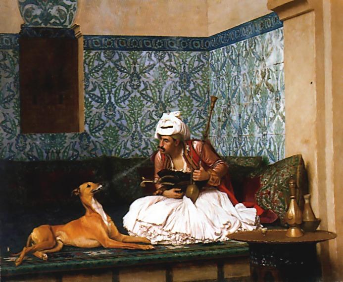 A Joke :: Jean-Leon Gerome  - scenes of Oriental life (Orientalism) in art and painting ôîòî