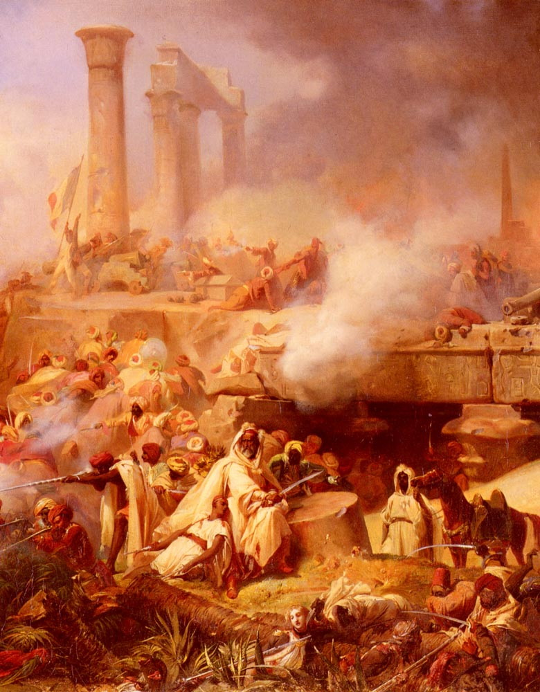 The Battle of Heliopolis :: Lion Cogniet - scenes of Oriental life (Orientalism) in art and painting ôîòî