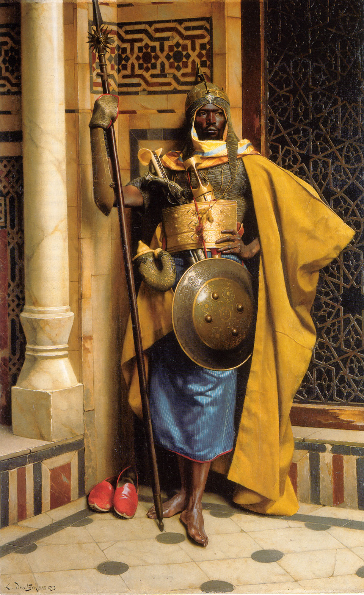 The Palace Guard :: Ludwig Deutsch - scenes of Oriental life (Orientalism) in art and painting ôîòî