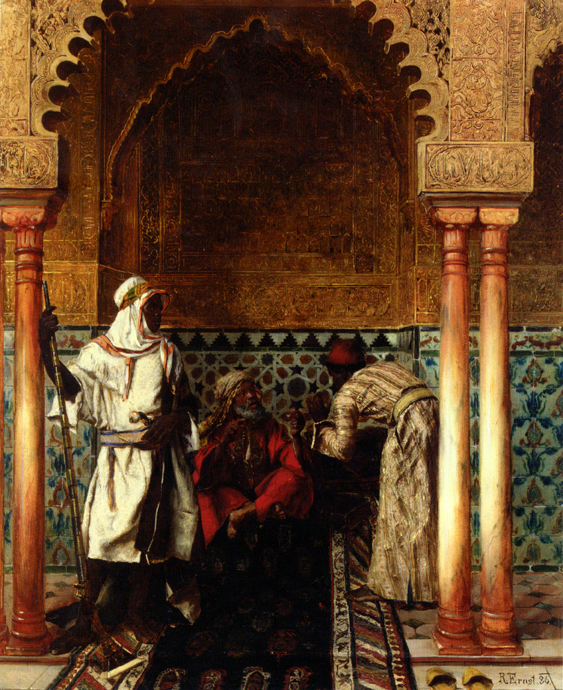 The Sage :: Rudolf Ernst - scenes of Oriental life (Orientalism) in art and painting ôîòî