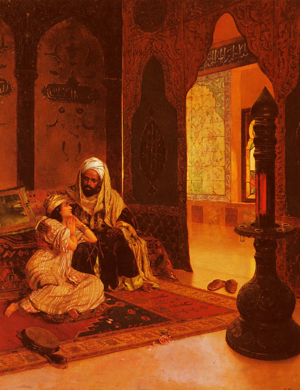 Harem favourite :: Rudolf Ernst - Arab women (Harem Life scenes) in art  and painting ôîòî