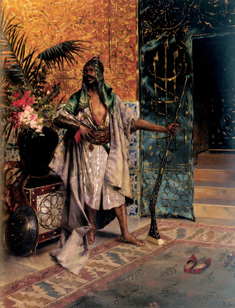 Harem Guard :: Rudolf Ernst - scenes of Oriental life (Orientalism) in art and painting ôîòî