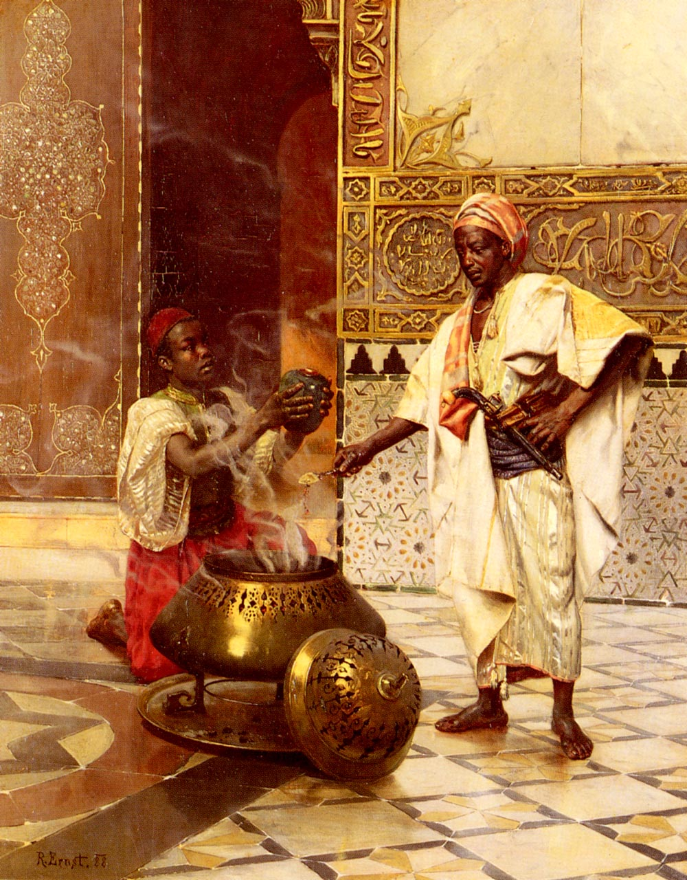 In The Alhambra :: Rudolf Ernst - scenes of Oriental life (Orientalism) in art and painting ôîòî