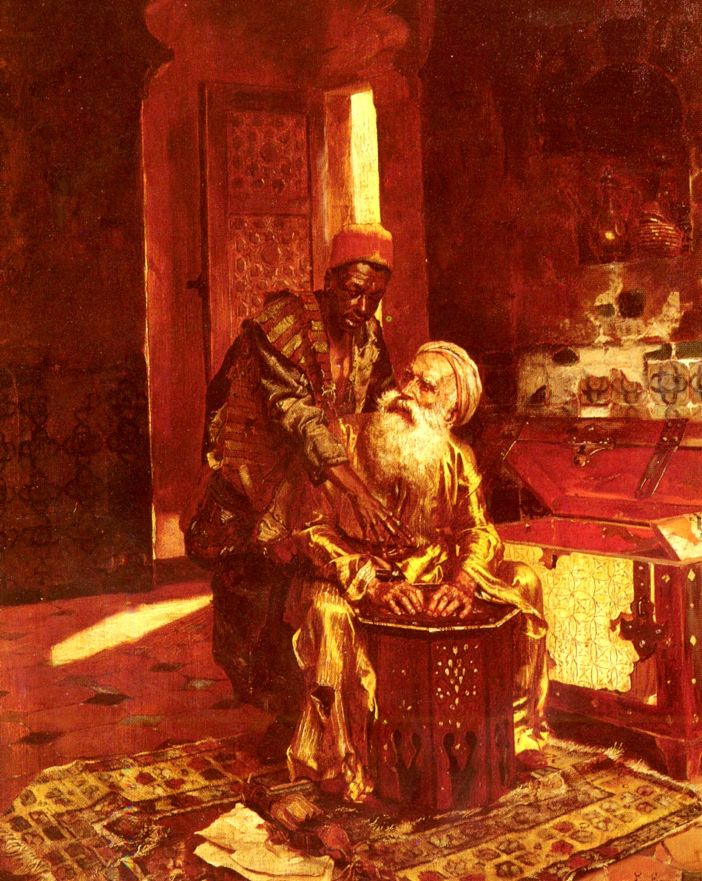 The Money Changer :: Rudolf Ernst - scenes of Oriental life (Orientalism) in art and painting ôîòî