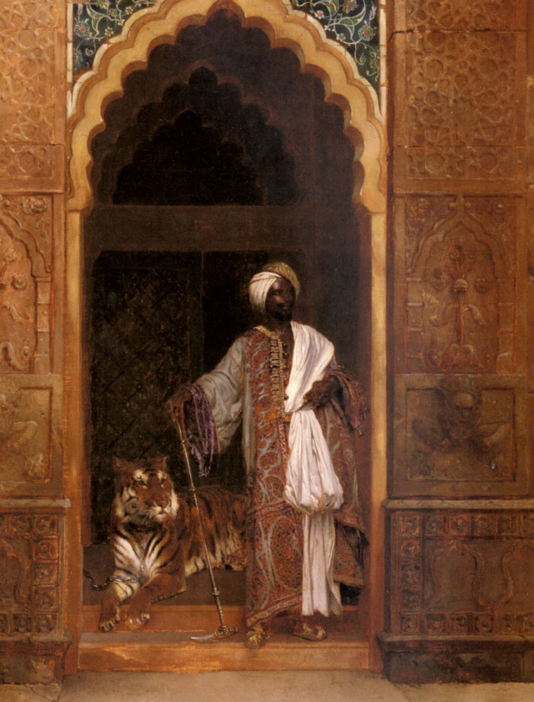 The Palace Guard :: Rudolf Ernst - scenes of Oriental life (Orientalism) in art and painting ôîòî