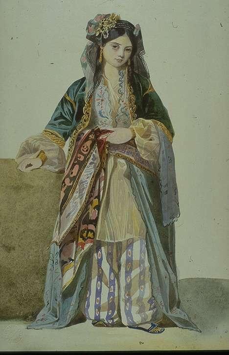 Turkish Woman ('Annetta'), Smyrna  :: Charles Gleyre  - Arab women (Harem Life scenes) in art  and painting ôîòî