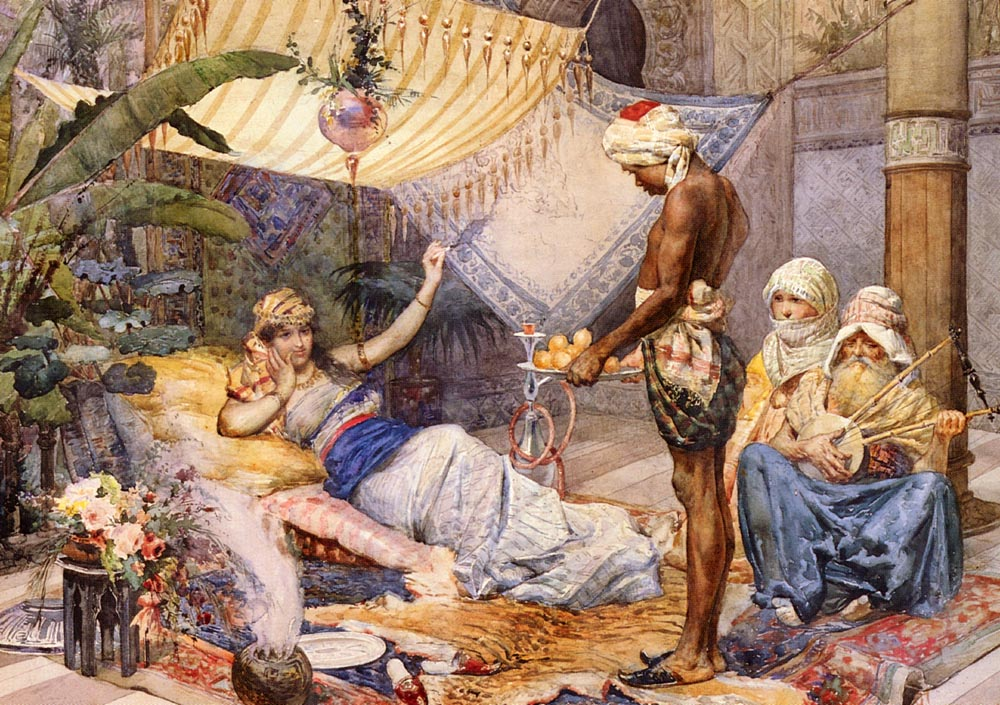 In The Harem :: F. Fasce - Arab women (Harem Life scenes) in art  and painting ôîòî