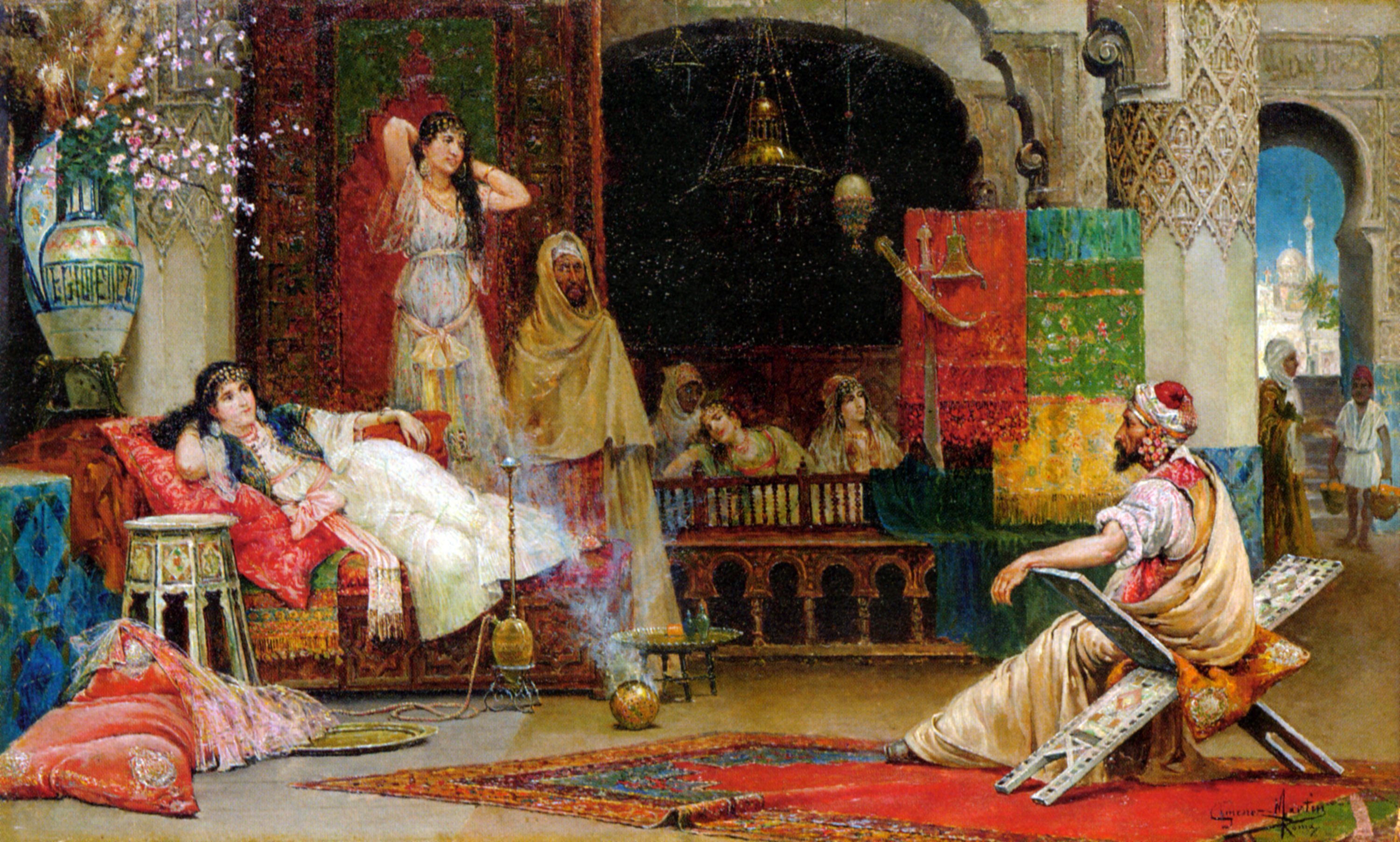 In the Harem :: Juan Gimenez-Martin - Arab women (Harem Life scenes) in art  and painting ôîòî