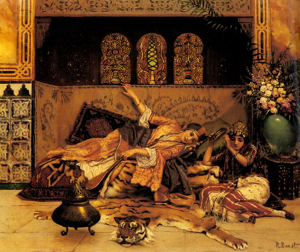 The Captives :: Rudolf Ernst  - Arab women (Harem Life scenes) in art  and painting ôîòî