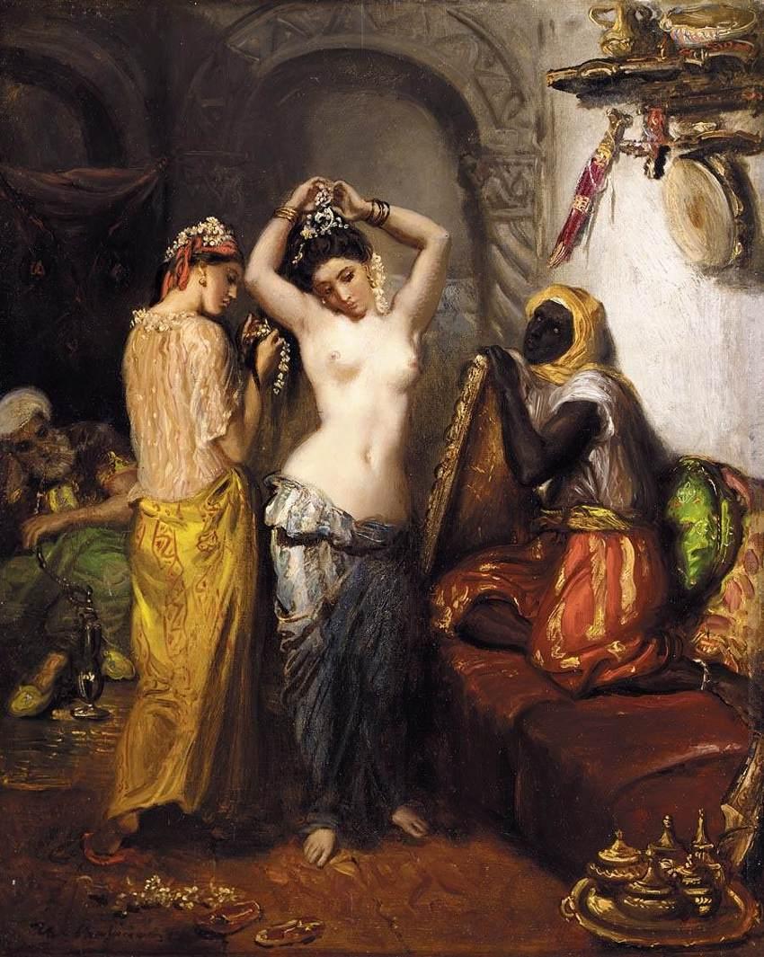 Orientalist Interior :: Thiodore Chassiriau - Arab women (Harem Life scenes) in art  and painting ôîòî