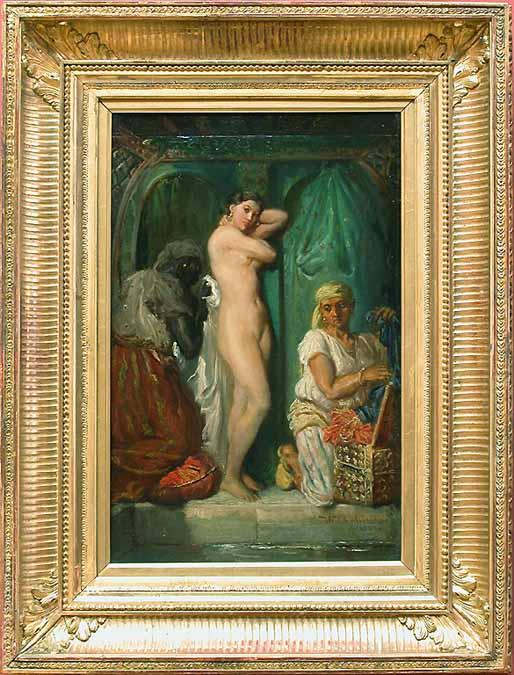 A Bath in the Harem :: Thiodore Chassiriau - Arab women (Harem Life scenes) in art  and painting ôîòî