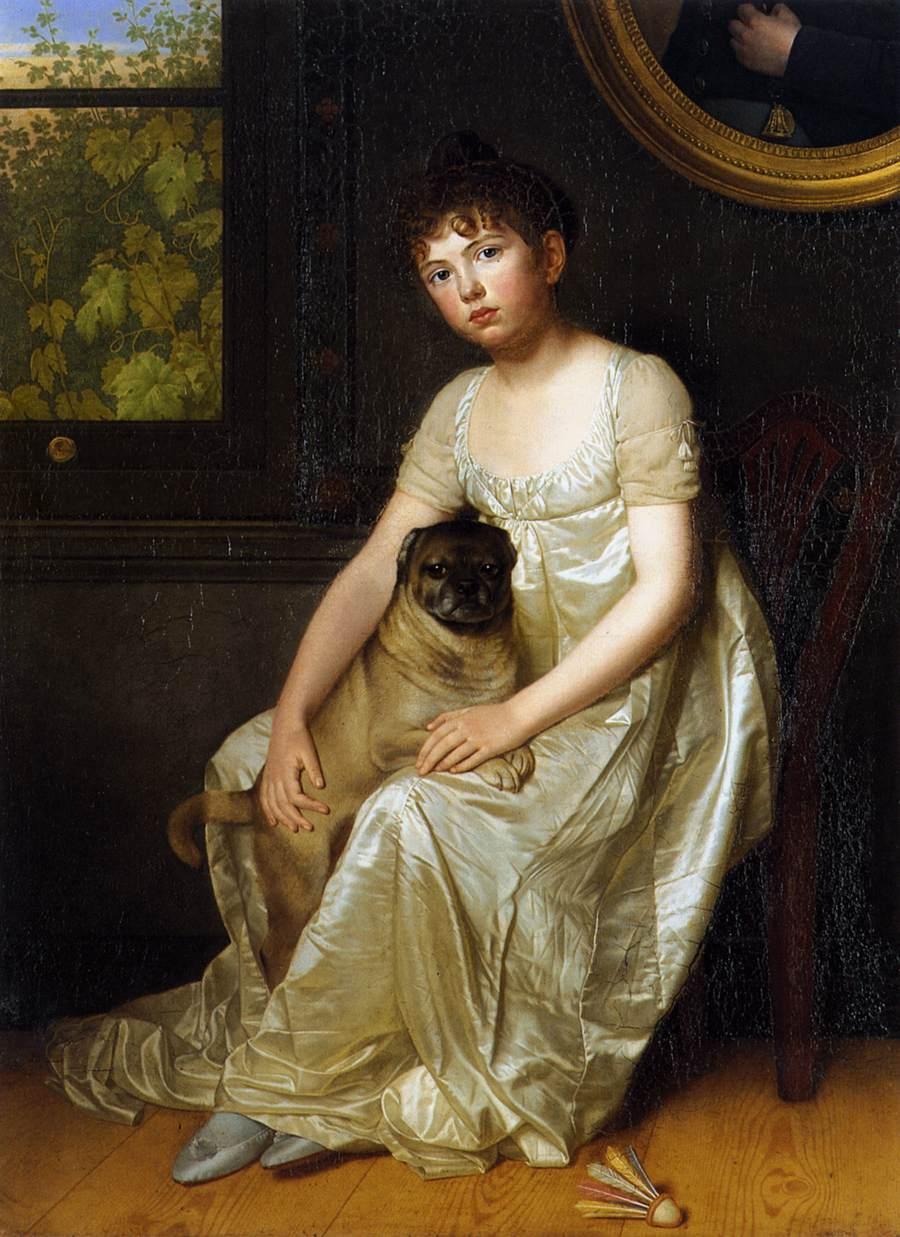 Portrait of Sylvie de la Rue :: Franzois van der Donckt - Portraits of young girls in art and painting ôîòî