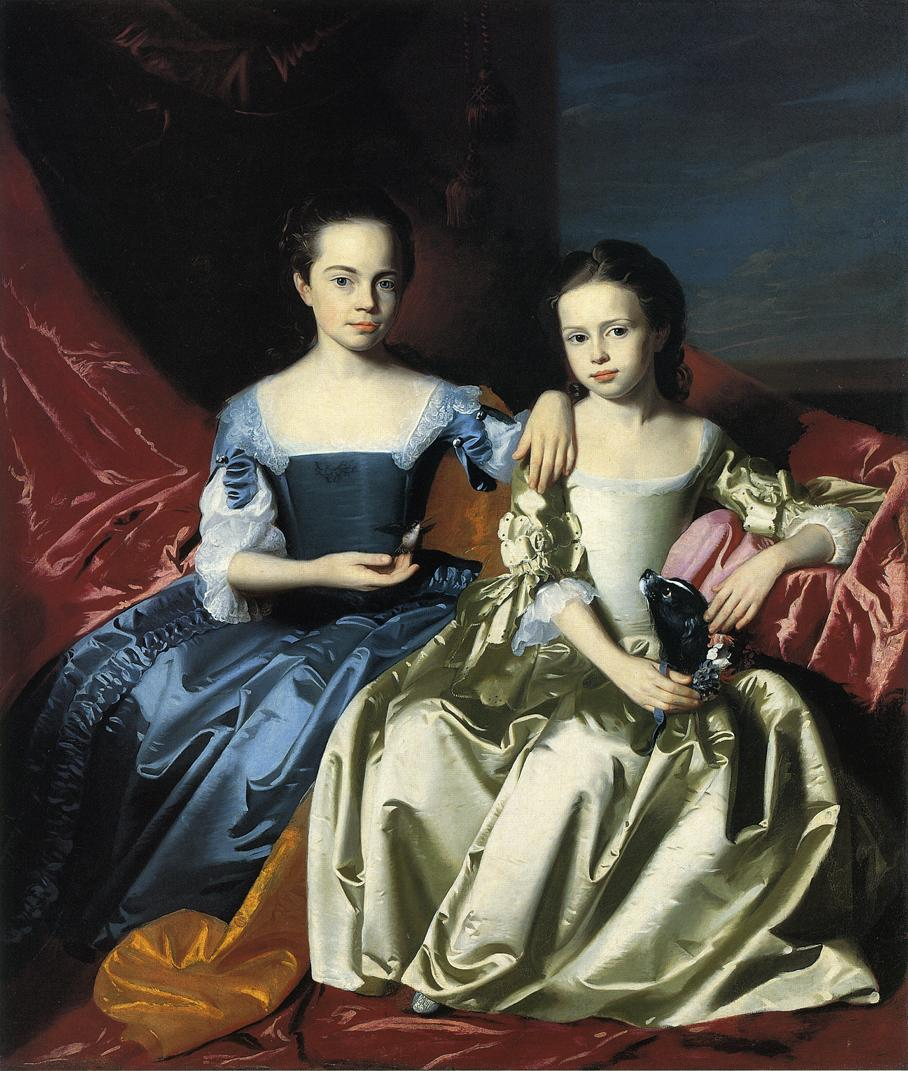 Mary and Elizabeth Royall :: John Singleton Copley - Children's portrait in art and painting ôîòî