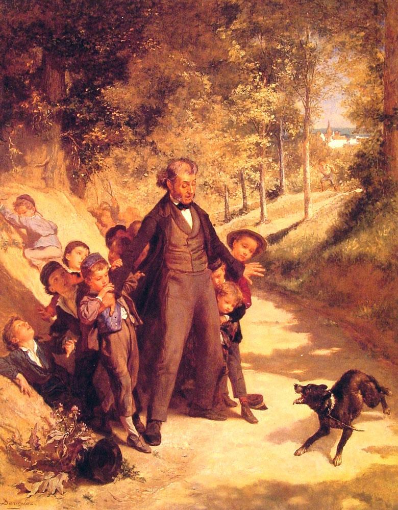 Protecting the School Children :: Andre Henri Dargelas - Children's portrait in art and painting ôîòî