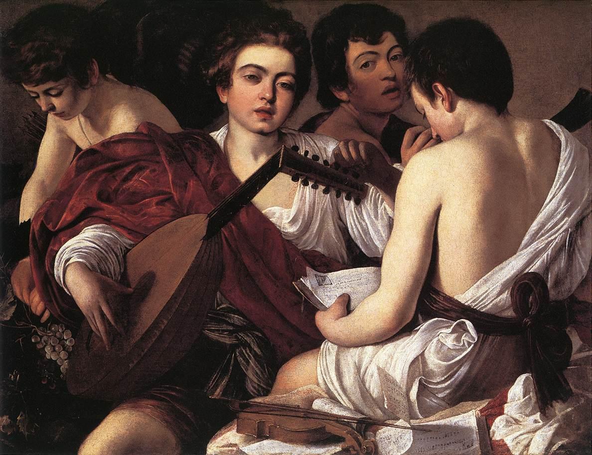 The Musicians :: Caravaggio - Children's portrait in art and painting ôîòî