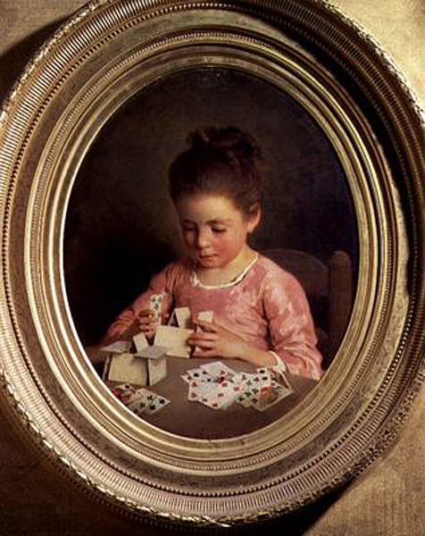 The House of Cards :: Charles Chaplin - Children's portrait in art and painting ôîòî
