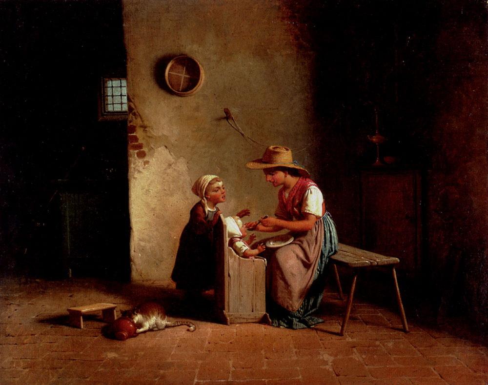 La Pappa :: Gaetano Chierici - Children's portrait in art and painting ôîòî