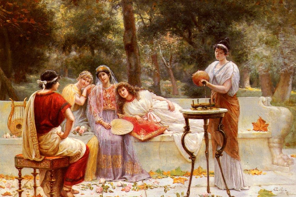 Figures In A Garden :: A. Zoffoli Classical - Antique world scenes ôîòî