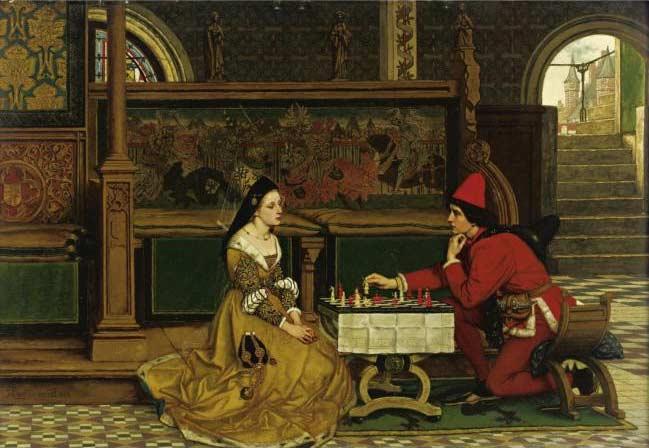 His Move :: Albrecht Frans Lieven Vriendt - Romantic scenes in art and painting ôîòî