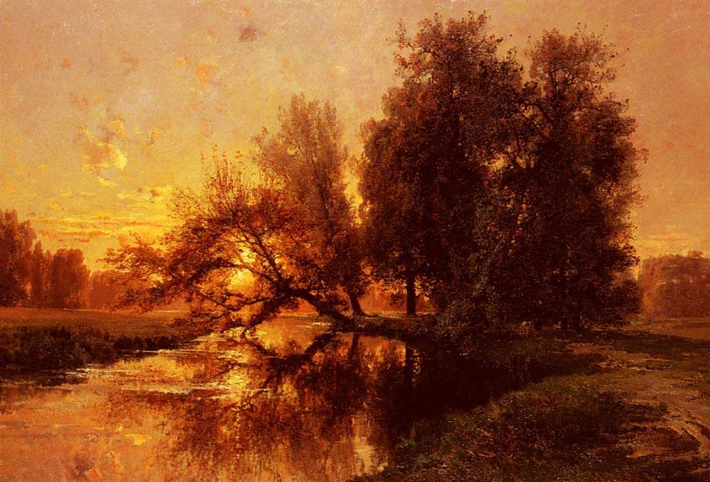 The Washerwoman :: Alexandre Rene Veron - Sunset and sunrise, sundown ôîòî