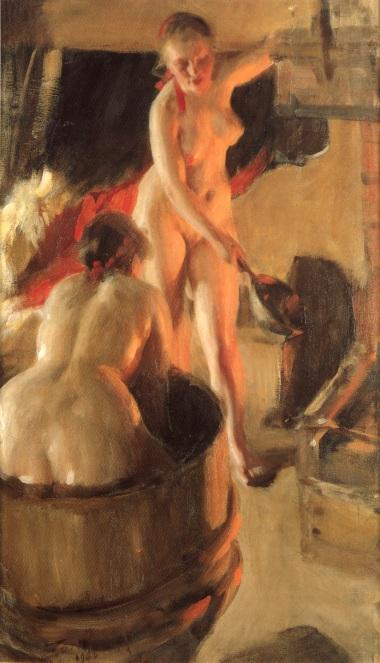 Girls in a bath :: Anders Zorn - Nu in art and painting ôîòî